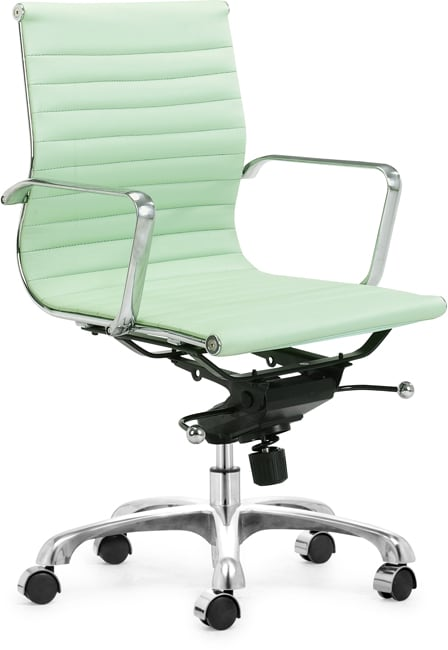 Manhattan Pistachio Leatherette Office Chair Free Shipping Today