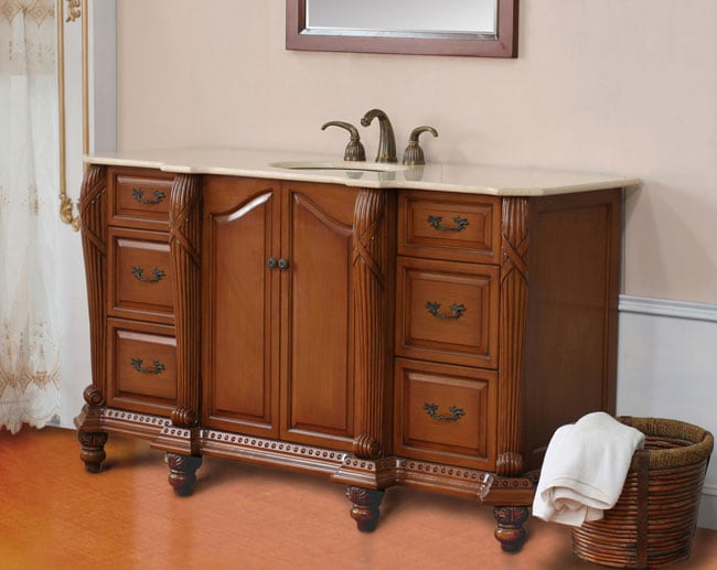 Genevie 65 Inch Single Sink Bathroom Vanity