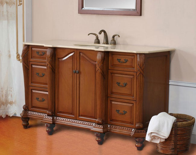 Superieur Genevie 65 Inch Single Sink Bathroom Vanity