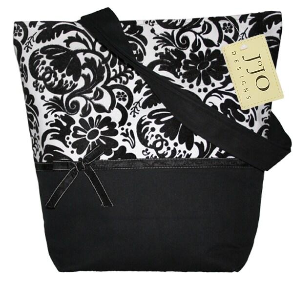Sweet Jojo Designs Black and White Jacquard Handbag