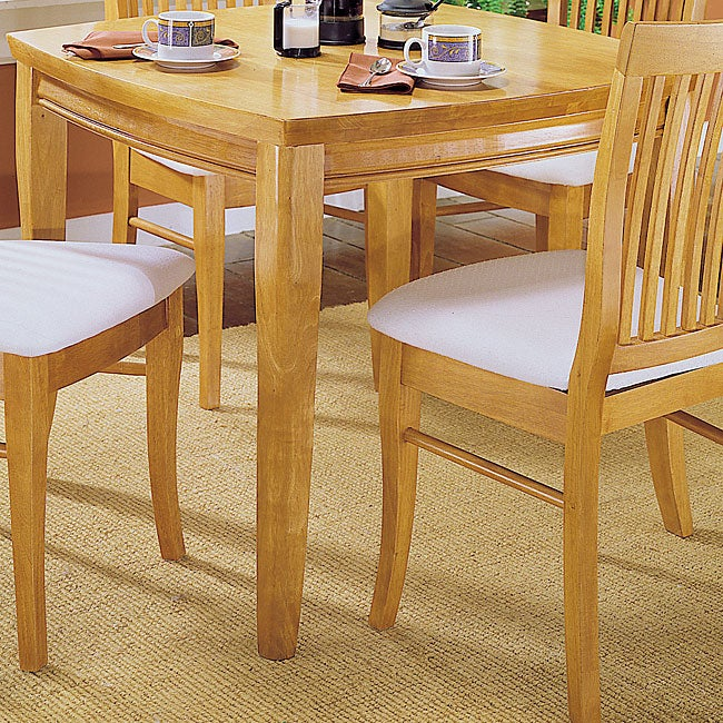 Newport Natural Dining Table with Shaped Top