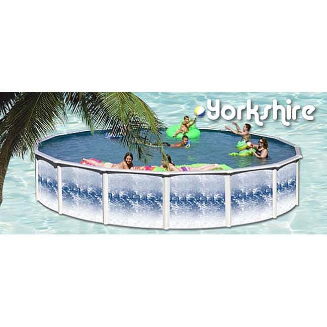 Shop yorkshire aboveground pool 24 39 round free - Swimming pools with slides in yorkshire ...