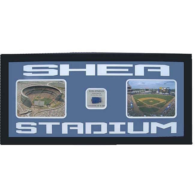 Shea Stadium Photo with Outfield Wall Piece