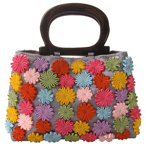 Shop Mad By Design Golden Floral Handbag - Free Shipping On Orders Over  45  - Overstock.com - 3076336 77e85dc66caa1