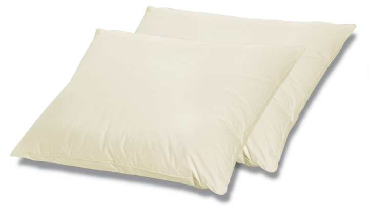Two Poly Cluster Filled Memory Foam Bed Pillows