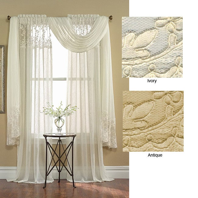 Bridal Lace 6-yard Window Scarf Valance