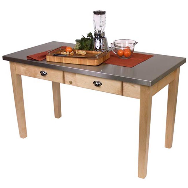 cucina milano natural large kitchen prep table free shipping today
