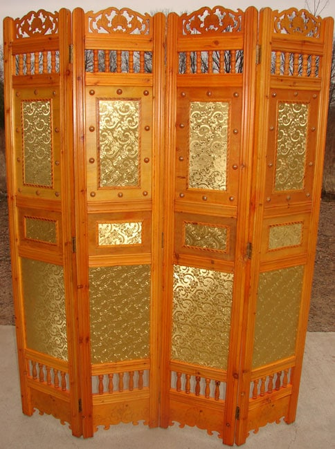 Victorian Floral Wooden Room Divider - Thumbnail 0
