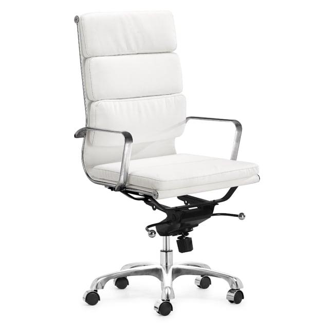 Milan Hi-back White Office Chair