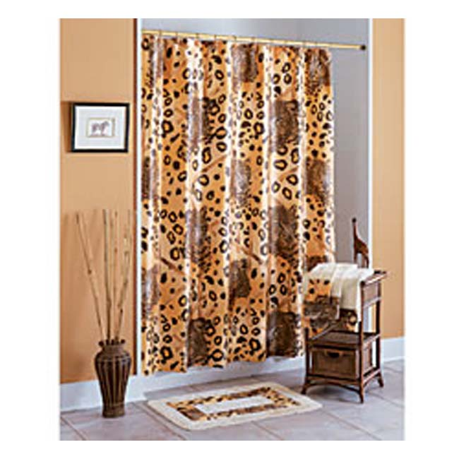 Kenya Shower Curtain And Hooks