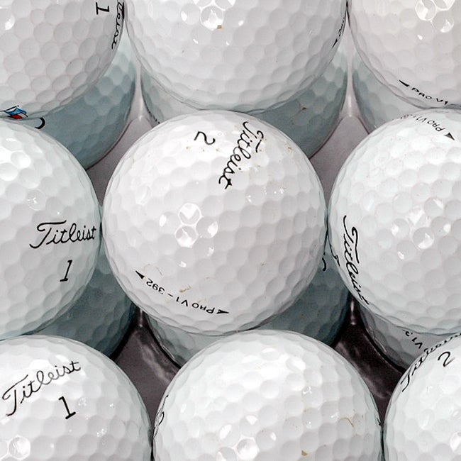Titleist Pro V1 AAA Recycled Golf Balls (Box of 36) (Refurbished)