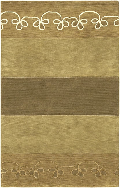 Hand-knotted Karur Collection Geometric Wool Area Rug - 9' x 13'