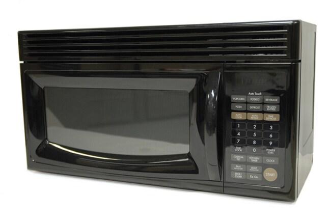 Goldstar 1 5 Cubic Feet Over The Range Black Microwave Refurbished