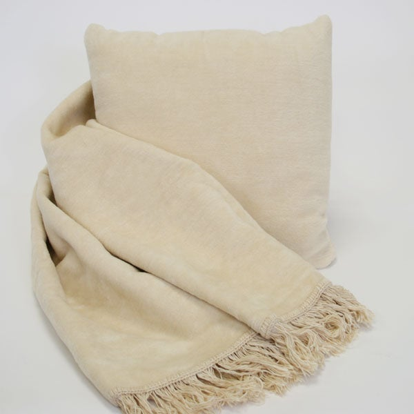 Cozy Throw and Pillow Combo Accent Piece