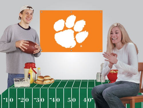 Clemson Tigers Tailgate Banner And Tablecloth