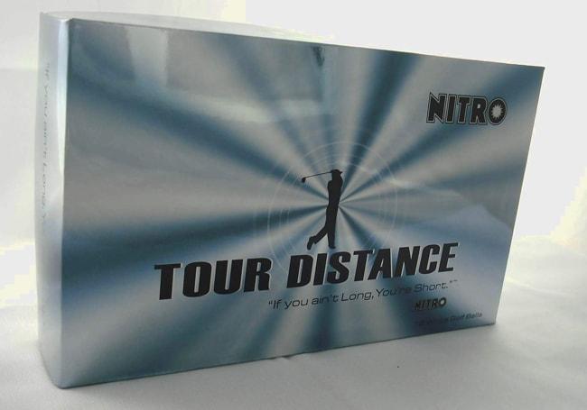Nitro Tour Distance White Golf Balls (Pack of 45)