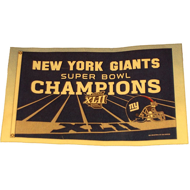 N.Y. Giants Super Bowl Champ Banner Flag
