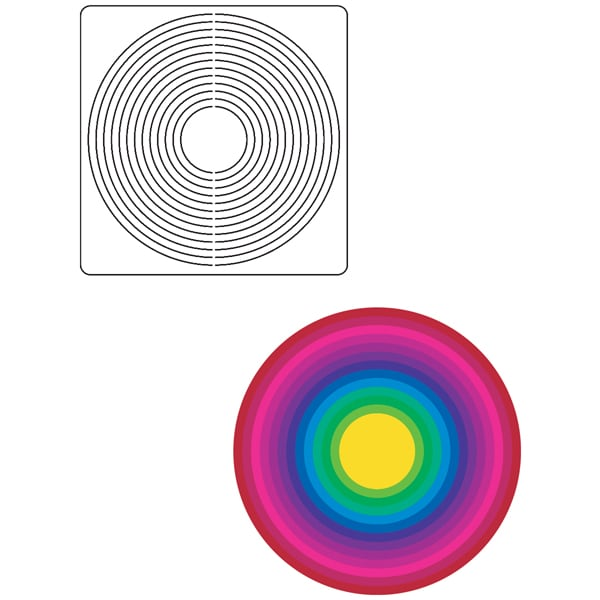 Provo Craft Coluzzle Large Circle Template Free Shipping