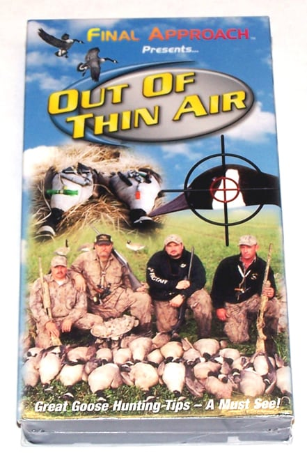 Final Approach Out of Thin Air Hunting VHS Video