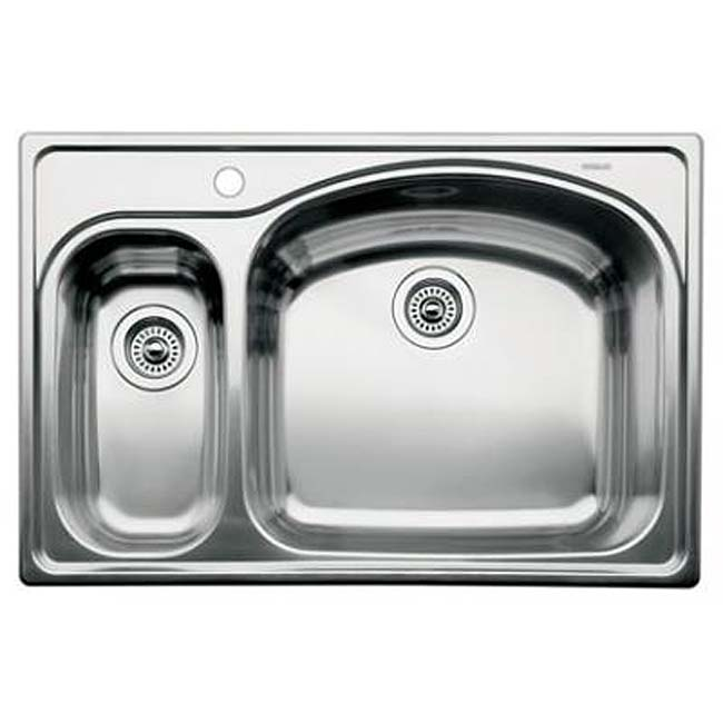 Blanco Stainless Steel Drop-in 1 1/2 Bowl Kitchen Sink - Free Shipping ...