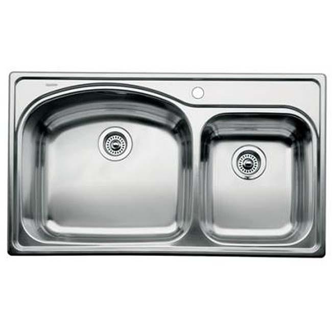 Blanco Drop In Kitchen Sinks : Blanco Stainless Steel Drop-in 1 3/4 Bowl Kitchen Sink - Free Shipping ...