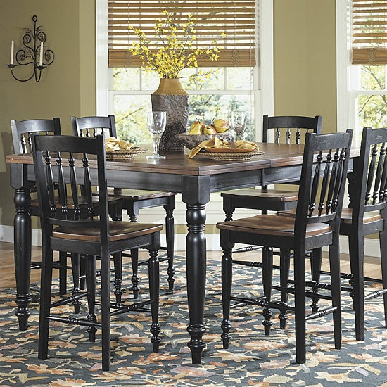 Hayden Black Cherry Pub Dining Table With Leaf Free