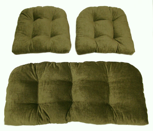 Daron Indoor Wicker Settee 3 Piece Cushion Set Free