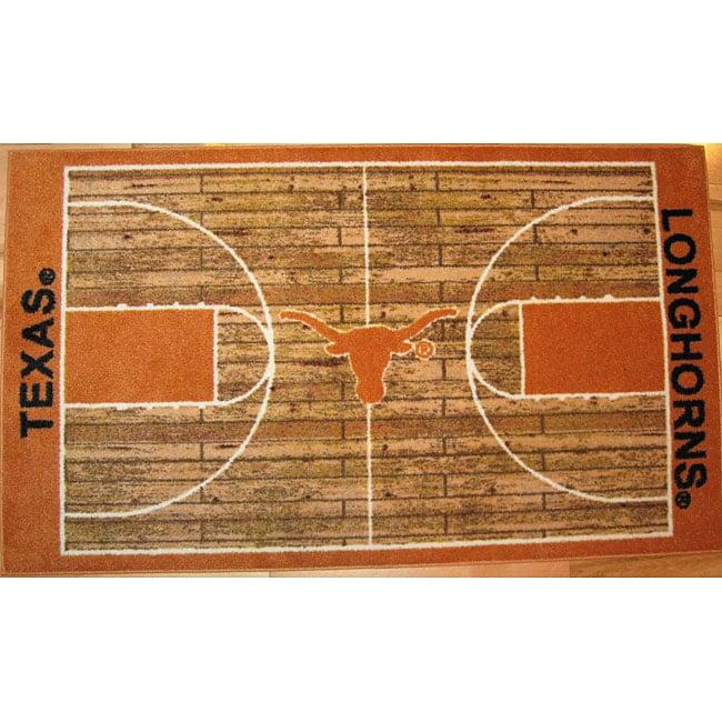 Large Basketball Area Rug: NCAA Texas Longhorns Basketball Rug (2'6 X 4'2)