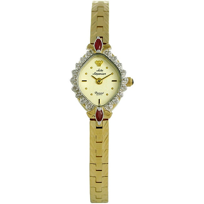 Jules Jurgensen Women S Diamond And Ruby Watch Free