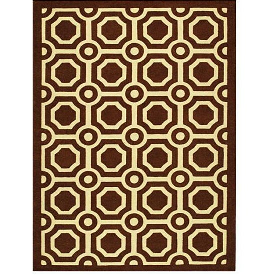 Hand-carved Mosaic Tiles Area Rug (7'10 x 11')
