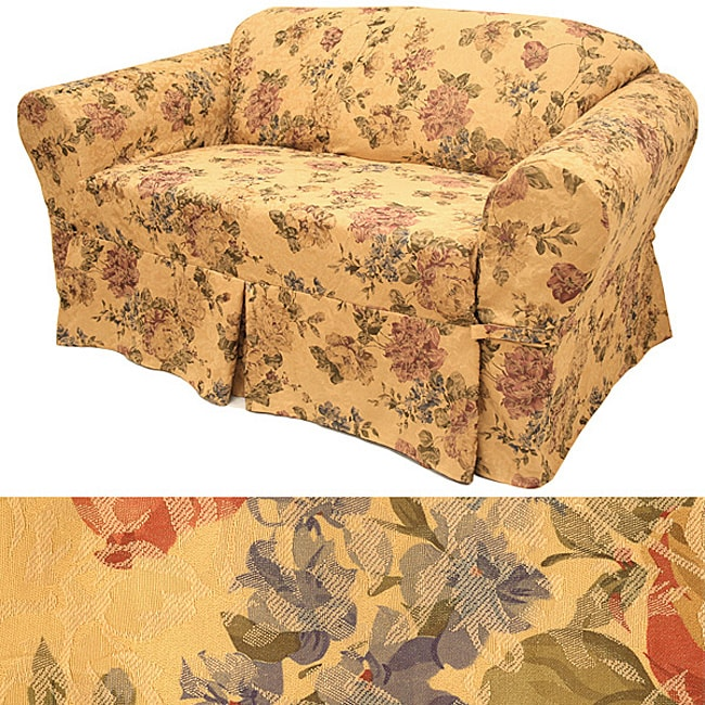 Damask Floral Sofa Slipcover Free Shipping Today