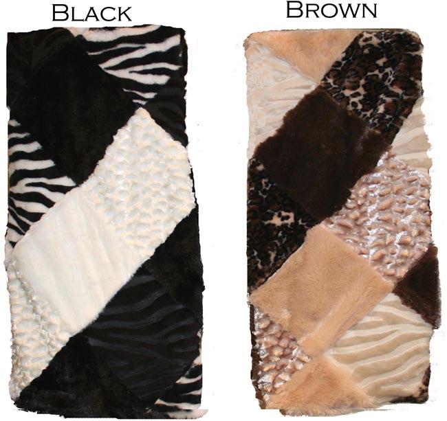 Sienna Sealskin Patchwork Throw Blanket