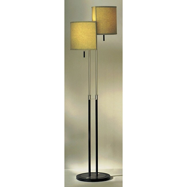 rise fall brushed nickel floor lamp free shipping today overstock. Black Bedroom Furniture Sets. Home Design Ideas