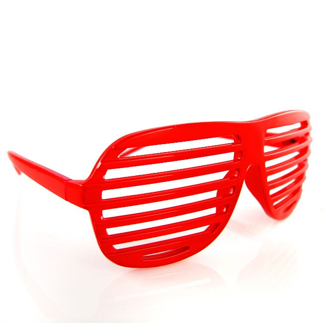Shutter Shades Red Sunglasses