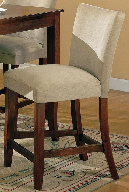 Taupe Microfiber Counter Stools Set Of 2 Free Shipping