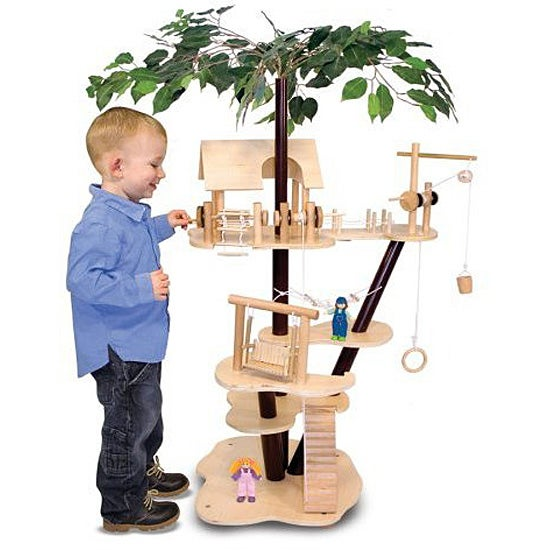 Melissa & Doug Classic Wooden Tree House Set