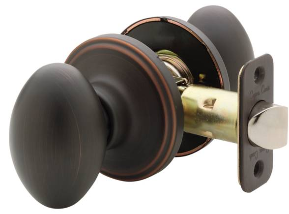 Fontaine Egg-shaped Oil Rubbed Bronze Doorknob