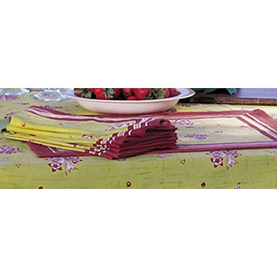 Apple Blossom Red/ Green Placemats (Set of 6)