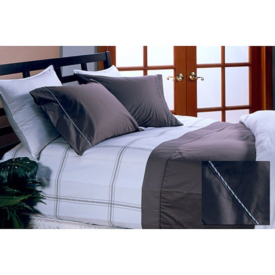 Hotel Grand Collection 330 Thread Count 4-piece Toffee Sheet Set