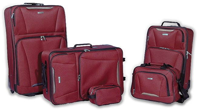 Tag Springfield 5-piece Red Luggage Set