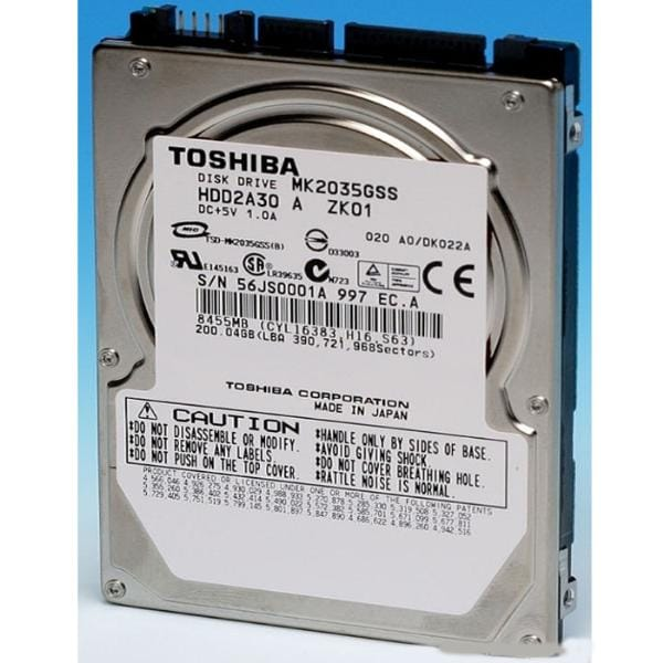 200GB Toshiba HDD2A30 4200RPM SATA Laptop HDD OEM