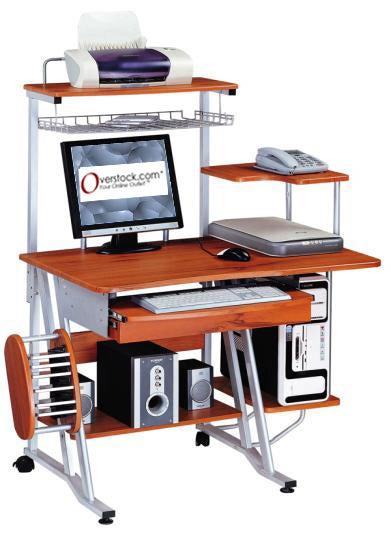 Multifunction Wooden Computer Desk Workstation