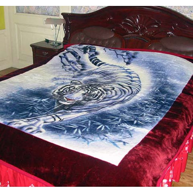 Snow Leopard Design Blanket