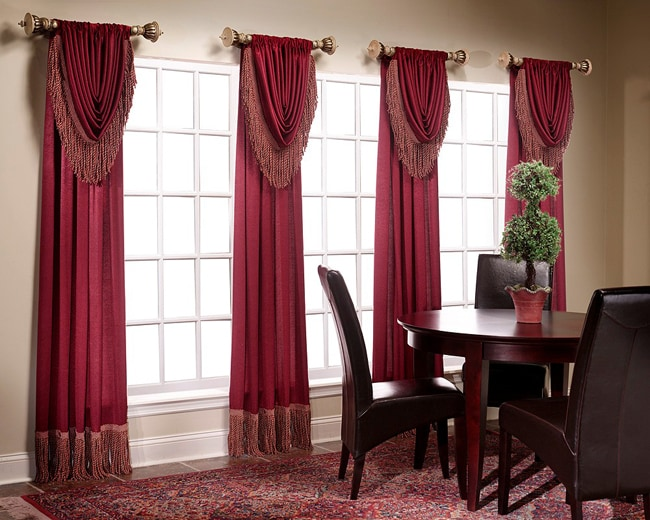 Shop Versailles Waterfall Valance Pair Free Shipping On