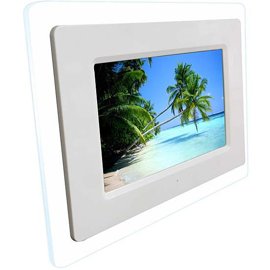 Shop Rokinon 8-inch White Digital Picture Frame - Free Shipping ...