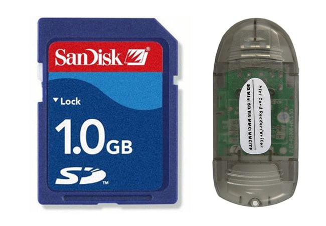 Sandisk 1G SD Card with SDHC USB Card Reader
