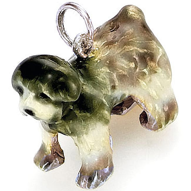 Best in Show Sterling Silver Enamel Sheepdog Charm