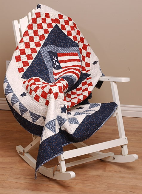 Greenland Home Fashions American Flag Throw Blanket