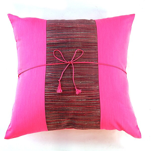 Shop Silky Filigree Hot Pink Maroon Cushion Cover Free