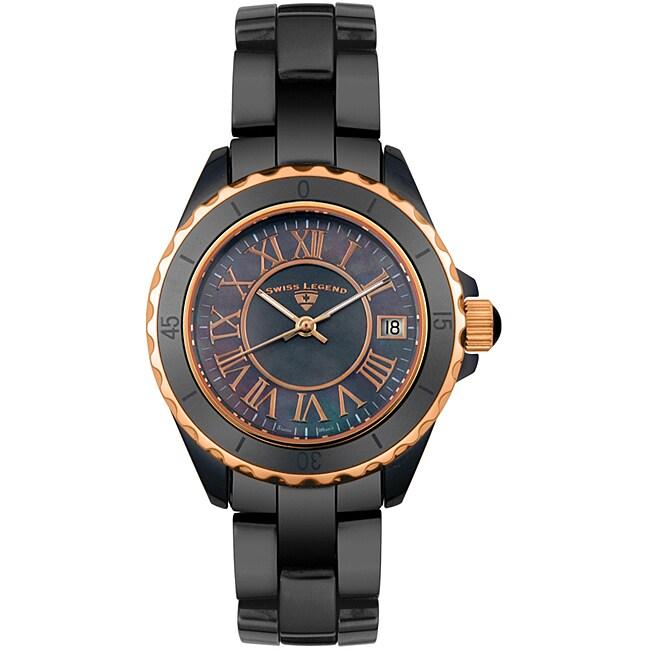 Swiss Legend Unisex Swiss-quartz Mother-of-pearl and Ceramic Watch